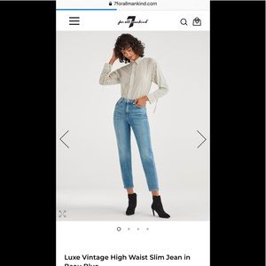 7 For All Mankind Luxe Vintage Jean